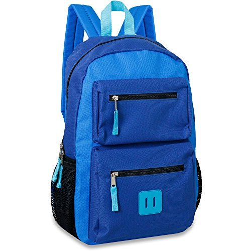 "Sutton & Sons 18 Inch Double Pocket Backpack (18"", Blue)"