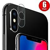 G-Color iPhone X Kamera Schutzfolie, 9H Härte, Anti-Öl, Anti-Kratzer und Blasenfrei, Gehärtetes Glas Displayschutzfolie für iPhone X Kamera objektiv. (klar)