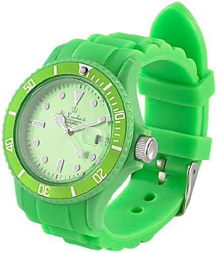 ST. Leonhard nc7165–944–Armbanduhr, Armband aus Silikon Farbe grün
