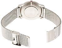 Mondaine Simply Elegant A400.30351.16SBM - Reloj para mujeres, correa de acero inoxidable color plateado de Mondaine