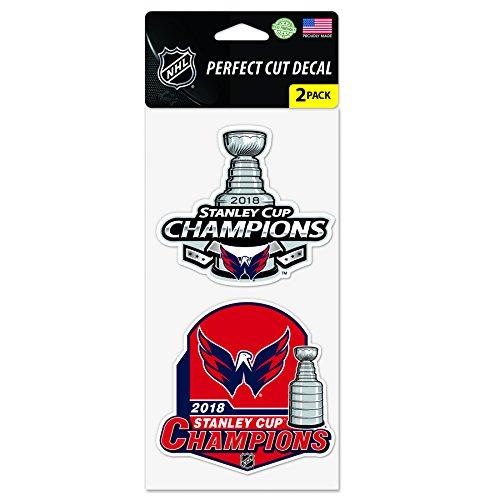 Wincraft Snack-Schale Washington Hauptstädte 2018Stanley Cup Champions 2Stück Perfekter Schnitt Aufkleber Washington Nationals-laser
