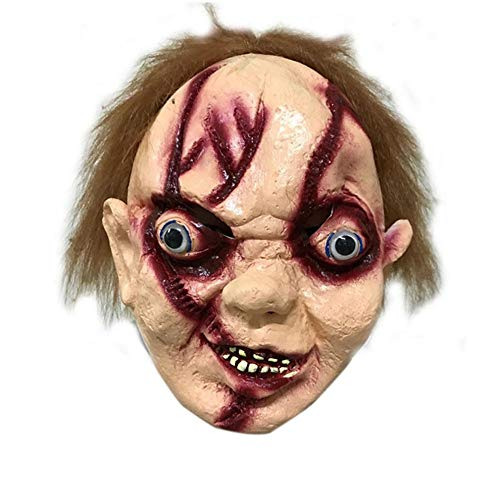 SilenceID Halloween Scary Maske für Männer Gruselige Maske Halloween Latex Kopf Maske Halloween Kostüm Party - Gruselig Dead Girl Kostüm
