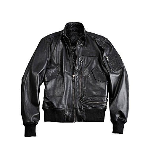 on sale b4744 f5a10 Alpha Industries Jacket Engine Leather, Größe:M, Farbe:black