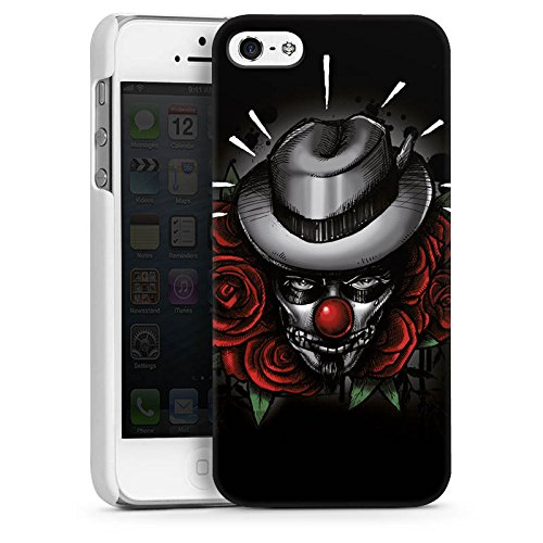 Apple iPhone 4 Housse Étui Silicone Coque Protection Joker - le Joker Fleurs Fleurs CasDur blanc
