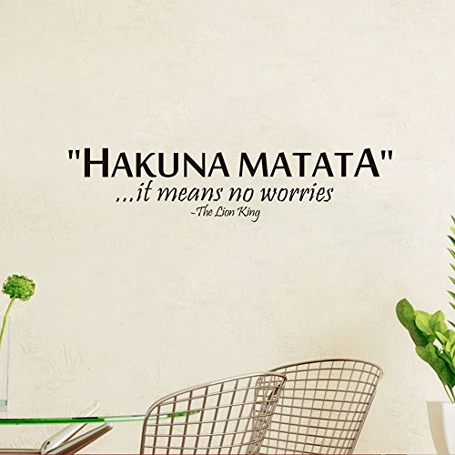 Hakuna Matata English Letter Quote Vinyl Removable Wall Sticker Art Home Decor 5*22 by ASENART