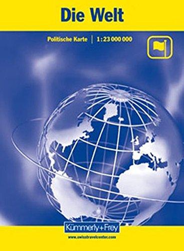 Carte du monde : 1/23 000 000 par Kümmerly + Frey