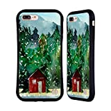 Head Case Designs Offizielle Mai Autumn Rote Huette Hoelzer Hybrid Hülle für iPhone 7 Plus/iPhone 8 Plus