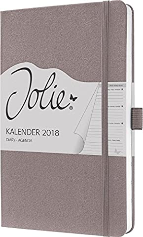 Sigel J8505 Wochenkalender Jolie 2018, ca. A5, rose brown - weitere Modelle