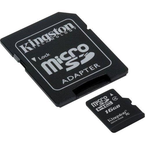 Professional Kingston microSDHC 16GB (16Gigabyte) Karte für HTC G2Handy Telefon mit individueller Formatierung und Standard-SD-Adapter (SDHC Class 4Zertifiziert) (G2 Tmobile Handy Htc)