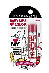 Maybelline Alia Loves New York Baby Lips Lip Balm, Manhattan Mauve, 4g