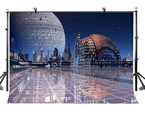 lylycty 7x 150Future City Hintergrund Zukunft City Bereich Architektonische Fotografie Hintergrund und Studio Fotografie Hintergrund Requisiten lyp028