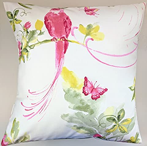 Cushion Cover in Laura Ashley Harewood Pink Print Grapefruit 16