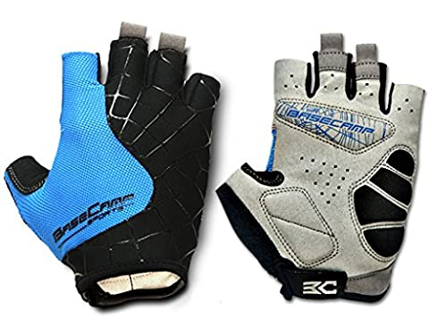 FreeMaster Fingerless Cycling Gloves Mountain Road Bike Bicycle Gloves (Blue,