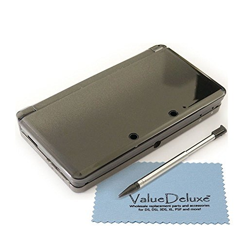 Cosmo Black Nintendo 3DS Complete Full Housing Shell Case Replacement Repair Fix [video games] by ValueDeluxe