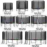 Gartentrampolin Kindertrampolin Trampolin 305 bis 310 cm multicolor komplettes Set mit Sicherheitsnetz und Einstiegsleiter ...
