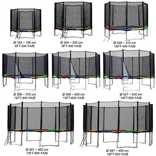 Gartentrampolin Kindertrampolin Trampolin 487 bis 490 cm multicolor komplettes Set mit Sicherheitsnetz und Einstiegsleiter …