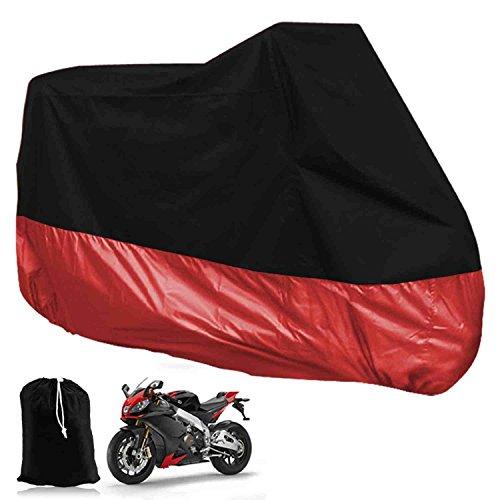 Funda para Moto Cubierta de Moto Protector Poliéster Impermeable Reflectante Motocicleta Anti-Polvo...