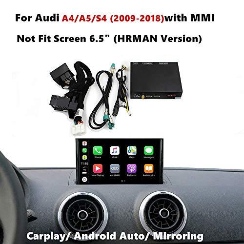 Auto Airplay Android Auto Carplay Box Schnittstelle Kompatibel für Audi A4/A5/S4 2009-2018 Werksbildschirm(Freisprecheinrichtung, Google GPS, MirrorLink)