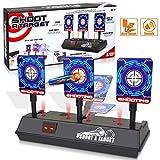 Mini Scoring Target Il punteggio di Auto-Reset Elettrico Mira ai Giocattoli con Effetti sonori di Luce Intelligenti per i Giochi di tiro di pallottole morbide di Nerf