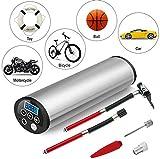 JINGBO Mini Auto-Luftpumpe Elektrischer Luftverdichter,150 PSI Portabel Aufladbar Mit LCD-Display Für Fahrrad Ball Ballon