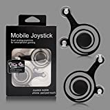 #7: ASGTRADE Joystick for Smart Phone and Tablet Game Rocker Only Touch Screen Joypad Tablet Game Controller (2 Pcs)-Black