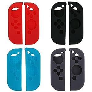 Demiawaking Neue Silikon Gummi Weiche Hüllen Abdeckung Schutzhülle für Nintendo Switch Joy-con Control