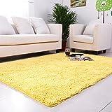 Hyun times Moquette ad alta densità assorbente chenille soggiorno camera da letto tavolino da toeletta carino tappetini da matrimonio camera da letto matrimoniale ( Colore : Giallo , dimensioni : 50*120cm )