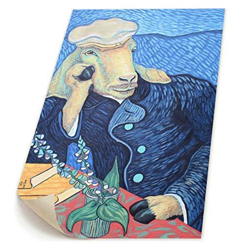 SDGYGSNi Leinwanddrucke, Motiv Ziege, abstrakte Pop-Art, lustig, buntes -
