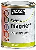Pébéo 28659 Peinture Magnet Base Magnétique Tous Supports Pot Métal 250ml Assorties
