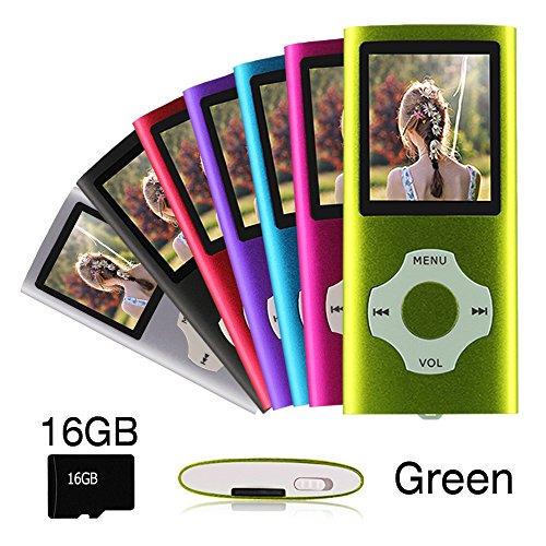 Ueleknight MP3/MP4-Player mit einer 16G Micro SD-Karte, Portable Digital Music Player auch als Sprachaufzeichnung/FM-Radio/Video/E-Book-Reader, 1,8 Zoll LCD-Bildschirm Economic MP3 - Best-fm Portable Radio