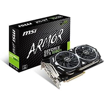 MSI GeForce GTX 1080 Ti ARMOR 11G OC - Tarjeta gráfica (refrigeración ARMOR 2X, 11GB Memoria GDDR5X, VR Ready)