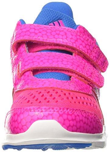 adidas Hyperfast 2.0 Cf K, Mocassins Garçon, Shock Red / Purple Glow / Ftwr White, 28 EU Multicolore - mehrfarbig (Shopin/Bopink/Shoblu)