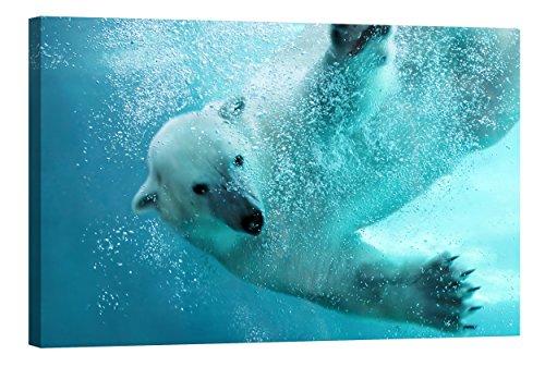 fototapete nachleuchtend Wandbilder Startoshop, nachleuchtende Leinwandbilder oder Selbstklebende Fototapete, der Eisbär Wanddeko, 40 cm x 60 cm