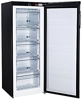 Russell Hobbs Freestanding 142cm Tall Freezer, A+ Rating, 157 Litre Net Capacity, Black, Reversible Door, RH55FZ142B