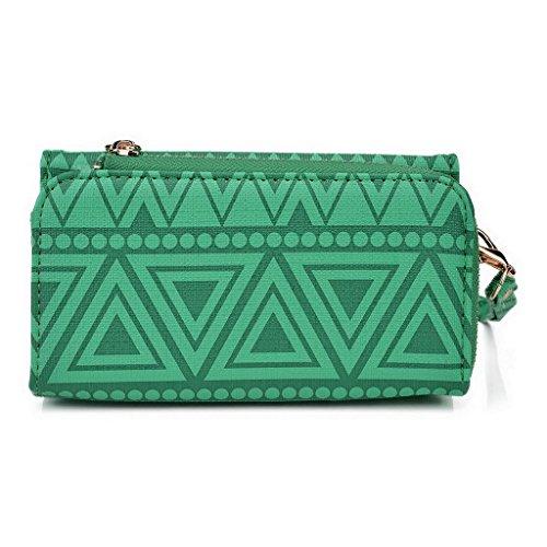 Kroo Pochette/étui style tribal urbain pour LG G4Dual Multicolore - Rose Multicolore - vert