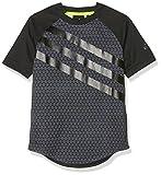 adidas Jungen Urban Football Performer Brand T-Shirt, Black/Onix/Black, 116