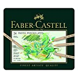 Faber-Castell 112124 Crayon PITT PASTEL boîte métal de 24 pièces