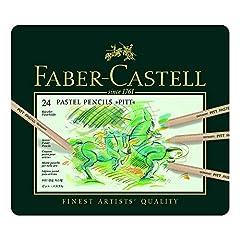 Idea Regalo - Faber-Castell - Matite a pastello Pitt, confezione in metallo da 24 pezzi