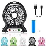 Tragbar Fan, Mini USB Aufladbare Fan mit 2600mAh...