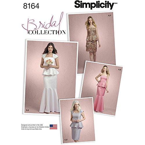 Simplicity Muster 8164Misses Zwei Stück besonderen Anlass Kleid, weiß (Besonderen Anlass Kleid Muster)