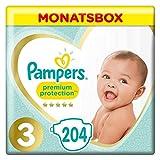 Pampers Premium Protection, Größe 3, Windel x204, 6 kg-10 kg