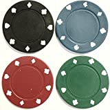 1000 x POKER ROULETTE CASINO CHIPS - SUITED DESIGNS IN 4 COLOURS