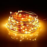 Albrillo warmweiß LED Lichterkette Batterie 10M 100leds für Innen und Außen