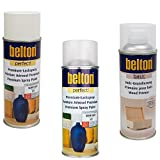 KWASNY_bundle Set Belton Perfect LACKSPRAY Weiss + Holz-GRUNDIERUNG + KLARLACK Matt 400 ML