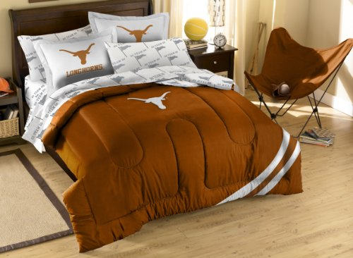 Northwest NCAA Full Größe Bettwäsche-Set mit Applikation Tröster, Herren, Texas Longhorns (Full-size-tröster-sets)