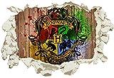 Unified Distribution Harry Potter Hogwarts - Wandtattoo mit 3D Effekt, Aufkleber für Wände und Türen Größe: 92x61 cm, Stil: Durchbruch