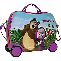 Masha y el Oso 4731051 In The Wood Equipaje Infantil, 25 Litros, Color Rosa