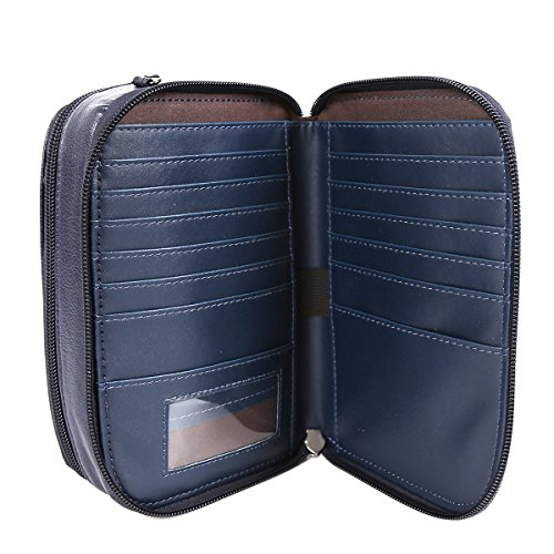 21KBARCELONA  2 durabilità principali scomparti Borsello in pelle a tracolla KP160752 Blu