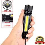wyxlink portable Zoo Mabel 8000LM XML T6 USB rechargeable COB LED Flash Light Torch