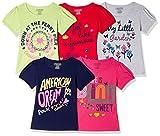 #10: Cherokee Girls' Plain Regular Fit T-Shirt (Pack of 5)
